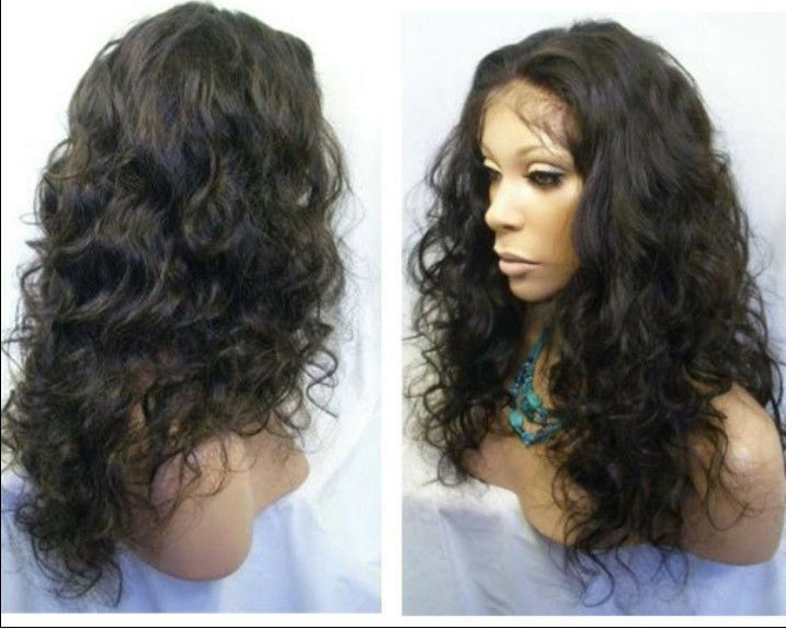Malaysia Curly Indian Remy Human Hair Full Lace Wigs /lace
