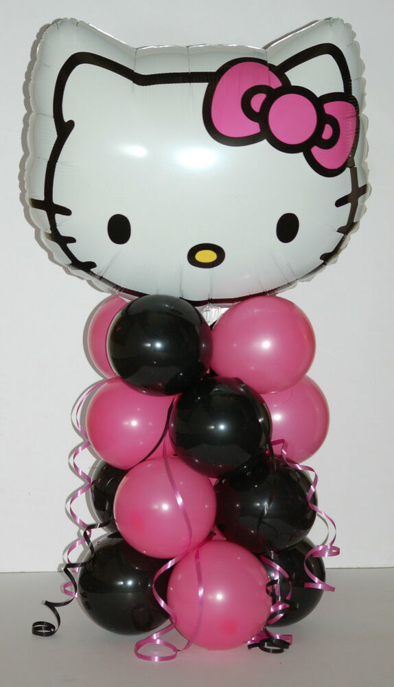 Hello Kitty Balloon Centerpiece Ideas : Hello kitty foil balloon display table centrepiece
