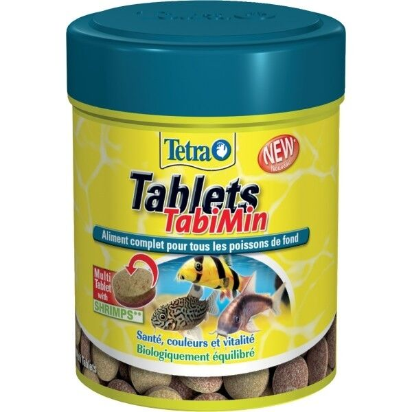 NOURRITURE POISSON DE FOND TETRA TABLETS TABIMIN 150ml/85g