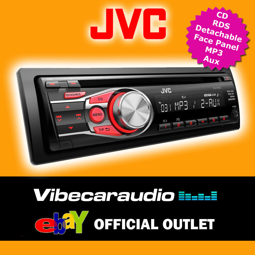 JVC Single Din Car CD Stereo Radio RDS Tuner Player Aux