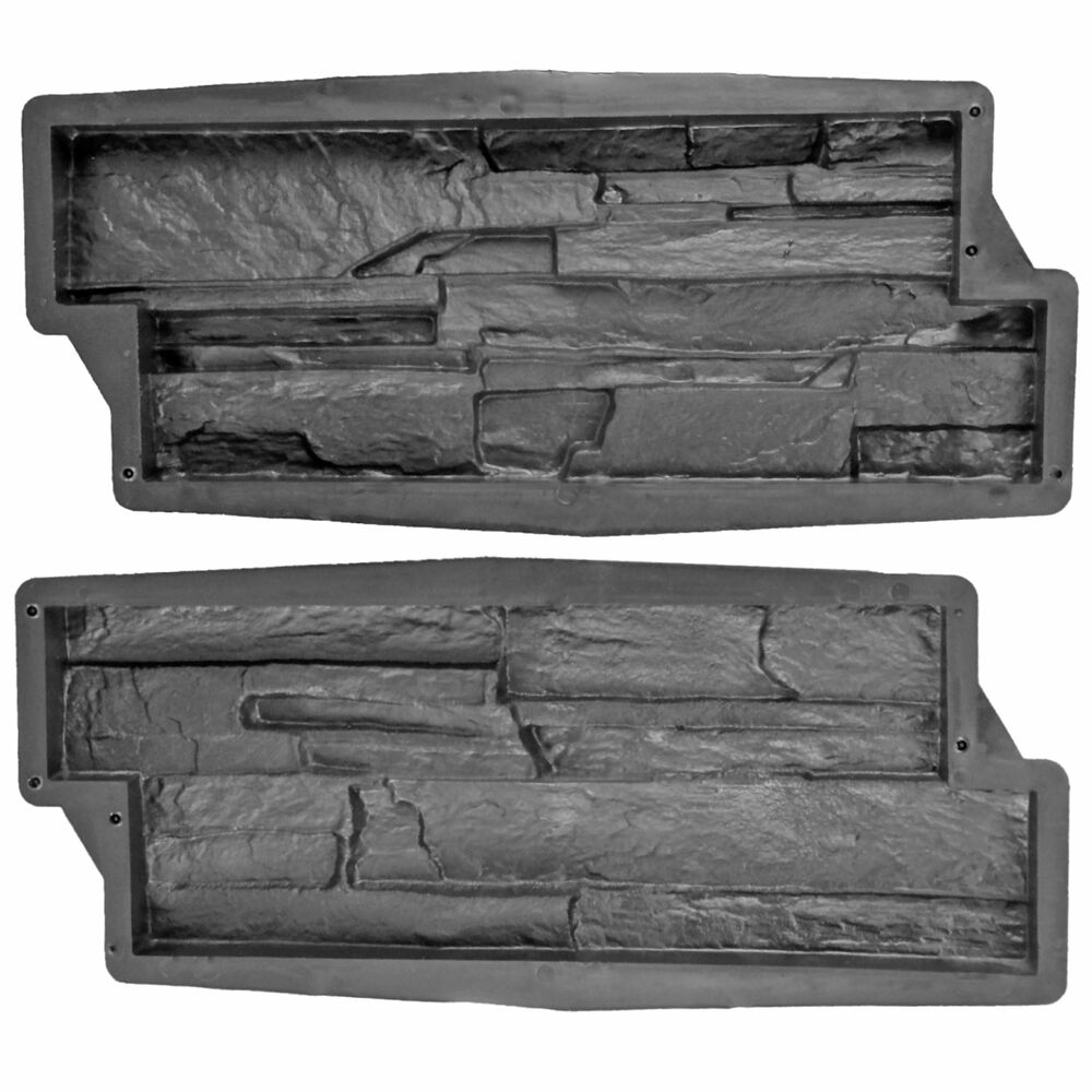 10 formen 1m beton gips gie formen wandverkleidung schiefer struktur klinker ebay. Black Bedroom Furniture Sets. Home Design Ideas