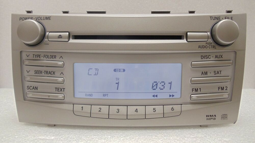 07 08 09 10 11 Toyota Camry Am Fm Radio Stereo Mp3 Cd