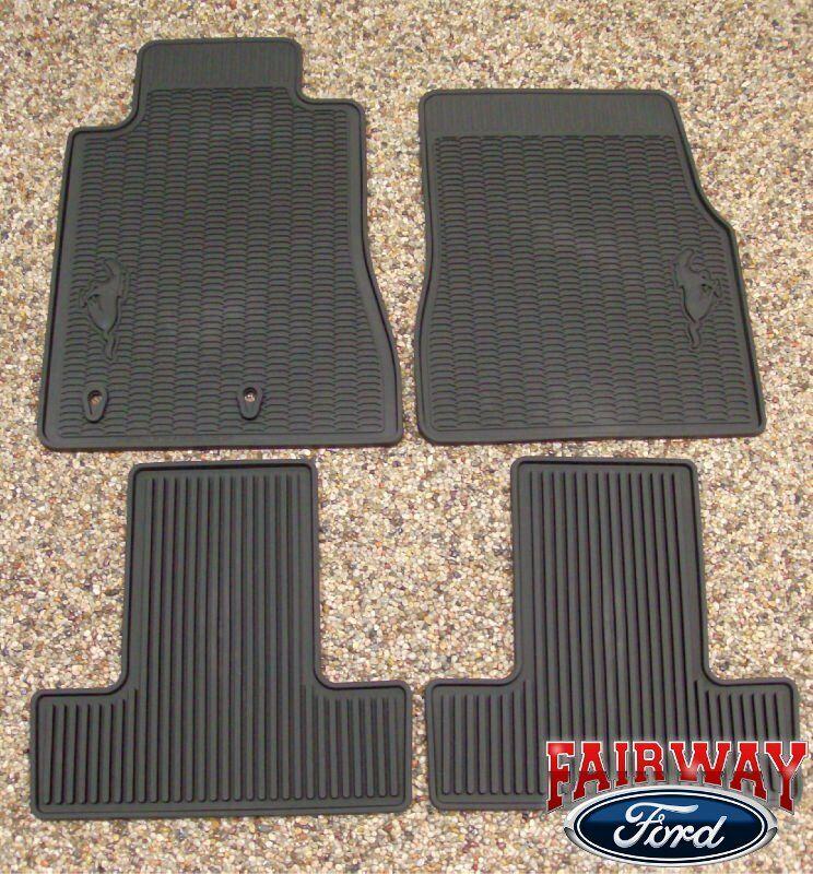 2010 10 Mustang Oem Genuine Ford Black Rubber All Weather