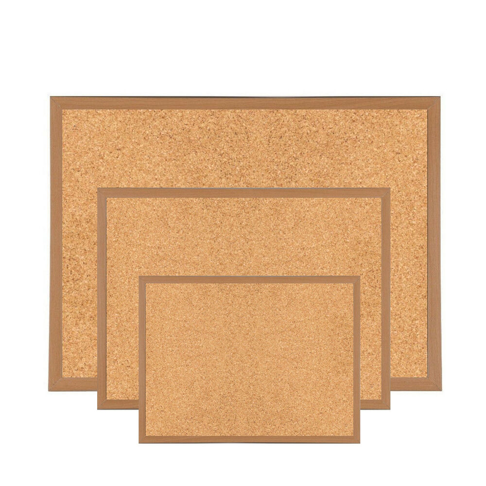 Premium reinforced wooden framed cork notice board memo for Cork board pin display