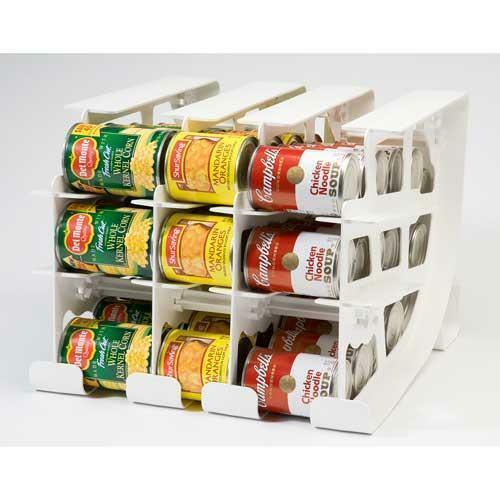 FIFO CAN TRACKER-FOOD STORAGE CAN ROTATOR-PANTRY SHELF ...