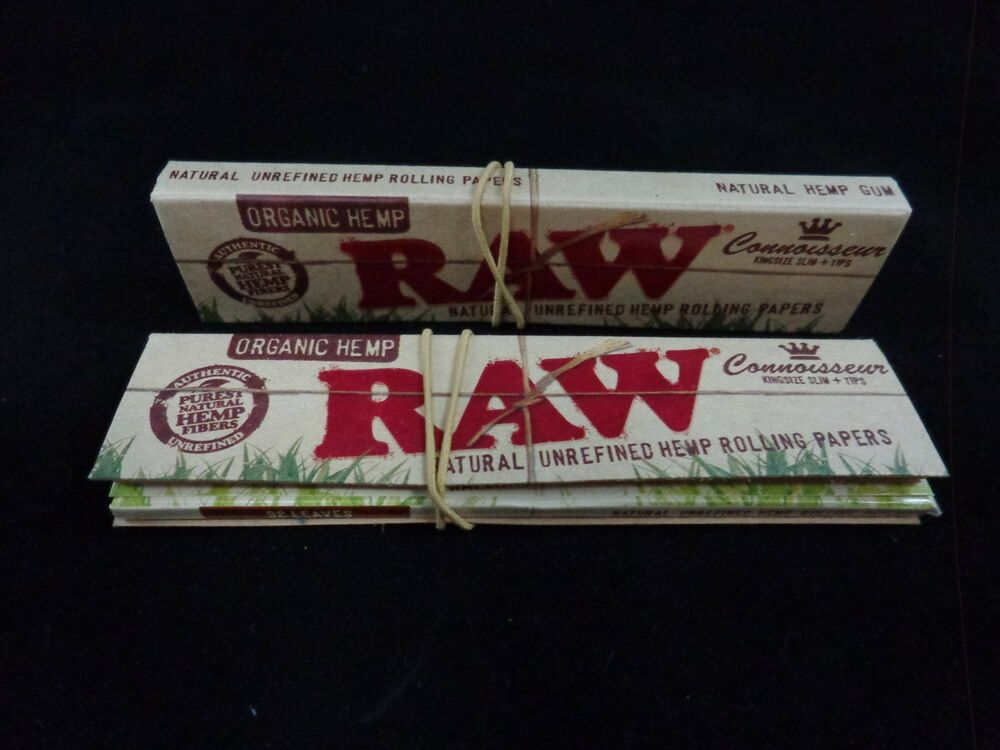 Raw Connoisseur Organic Hemp Rolling Papers King Size 2
