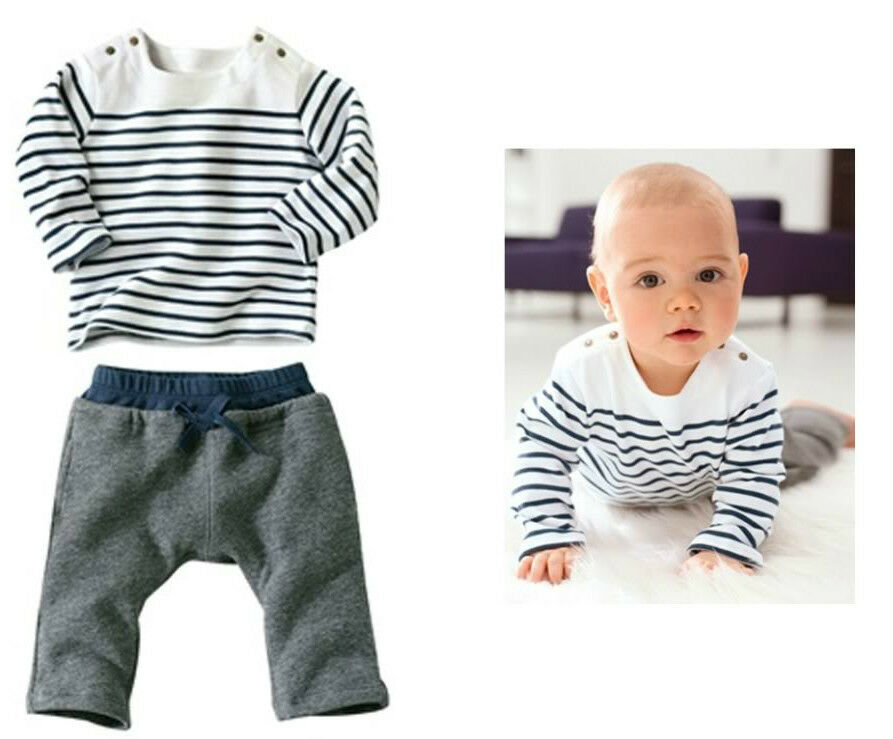 Baby Boy Twins Sporty Marine Sailor 2 PCs Outfit Set ...