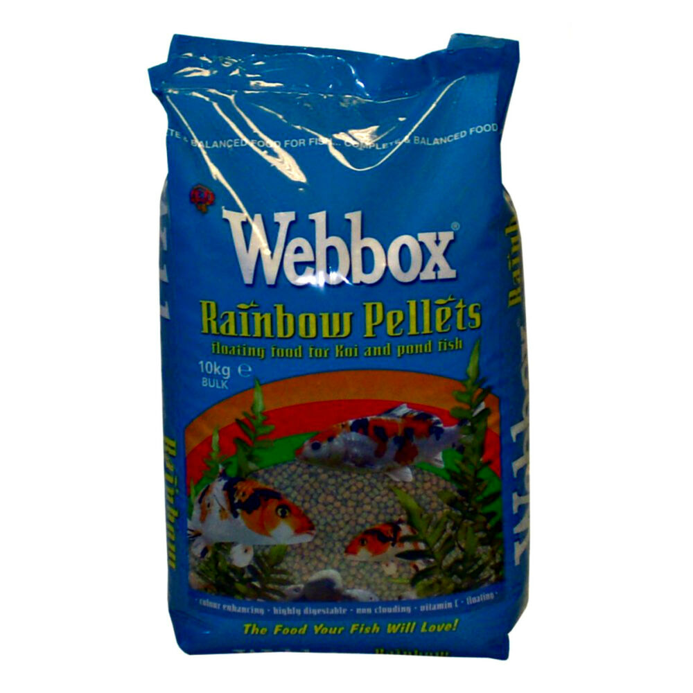 10kg webbox rainbow pellets floating koi carp all pond for Best food for koi fish
