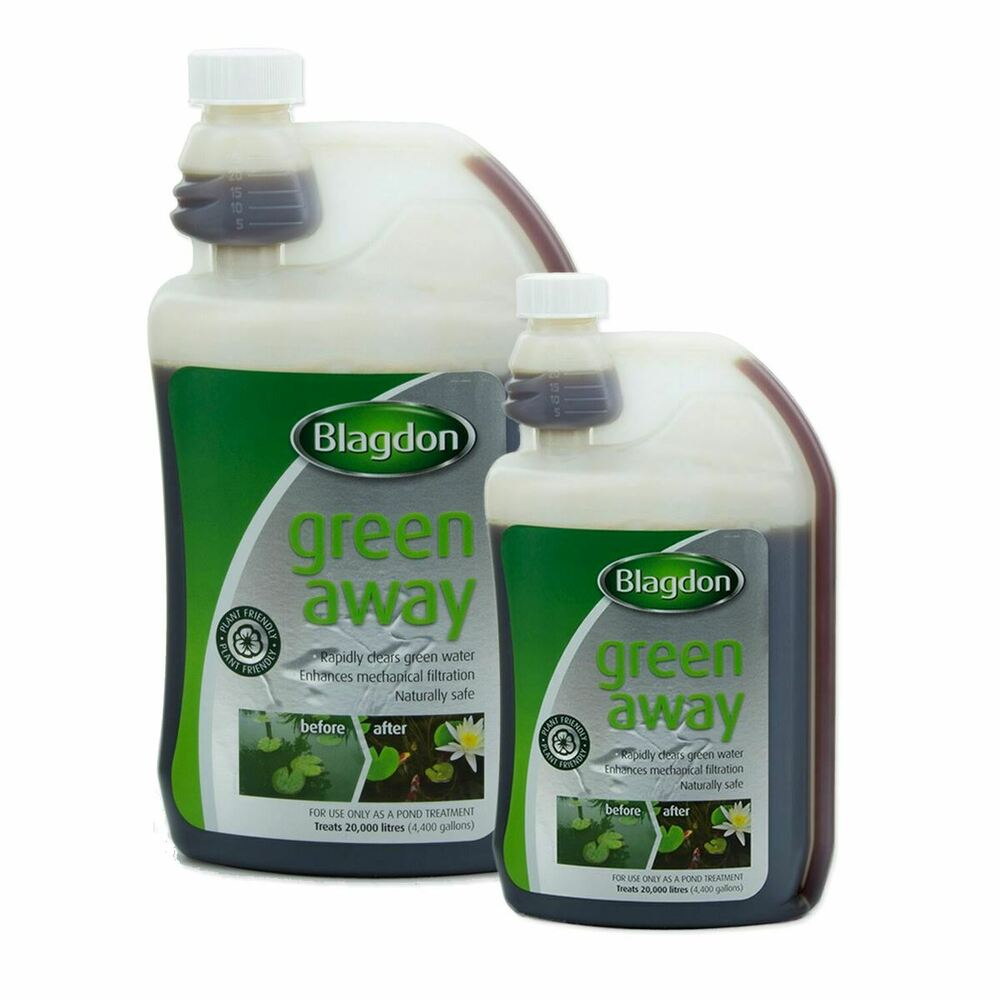 250ml 1 litre interpet green away pond water algae for Green pond water