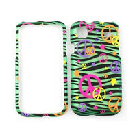 For Samsung Galaxy S 4G Vibrant T959 i9000 Case Green Zebra Peace Signs Cover