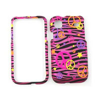 Cover Case For Samsung Galaxy S 4G Vibrant T959 i9000 Pink Zebra Skin Peace Sign