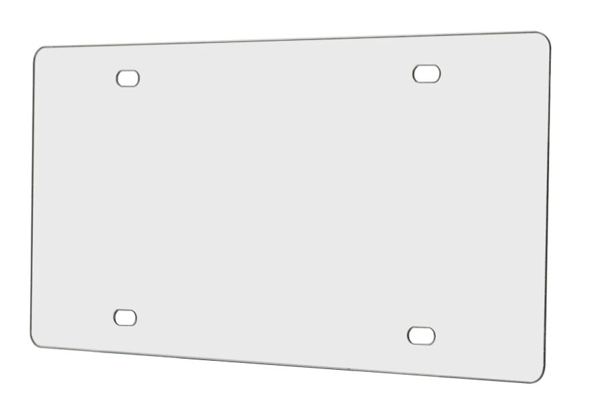 One Clear Plastic License Plate Protector Shield Cover Tag