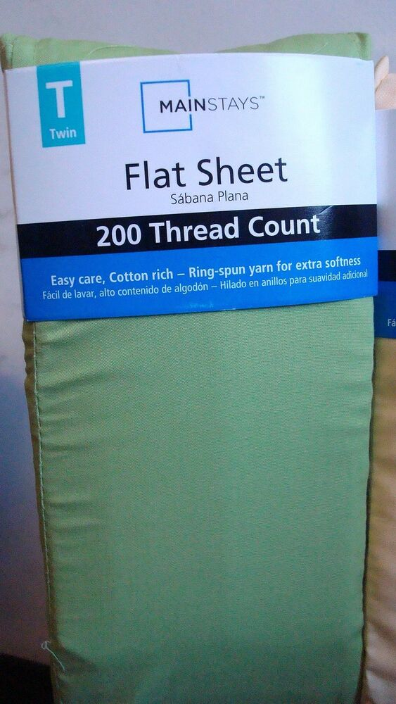 Mainstays Twin Flat Sheet Brand New Green Frond Ebay
