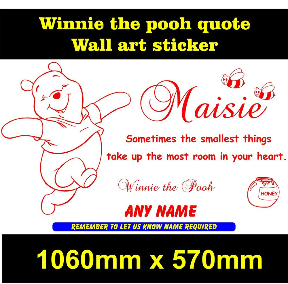 Personalised Winnie The Pooh Wall Quote Boys / Girls