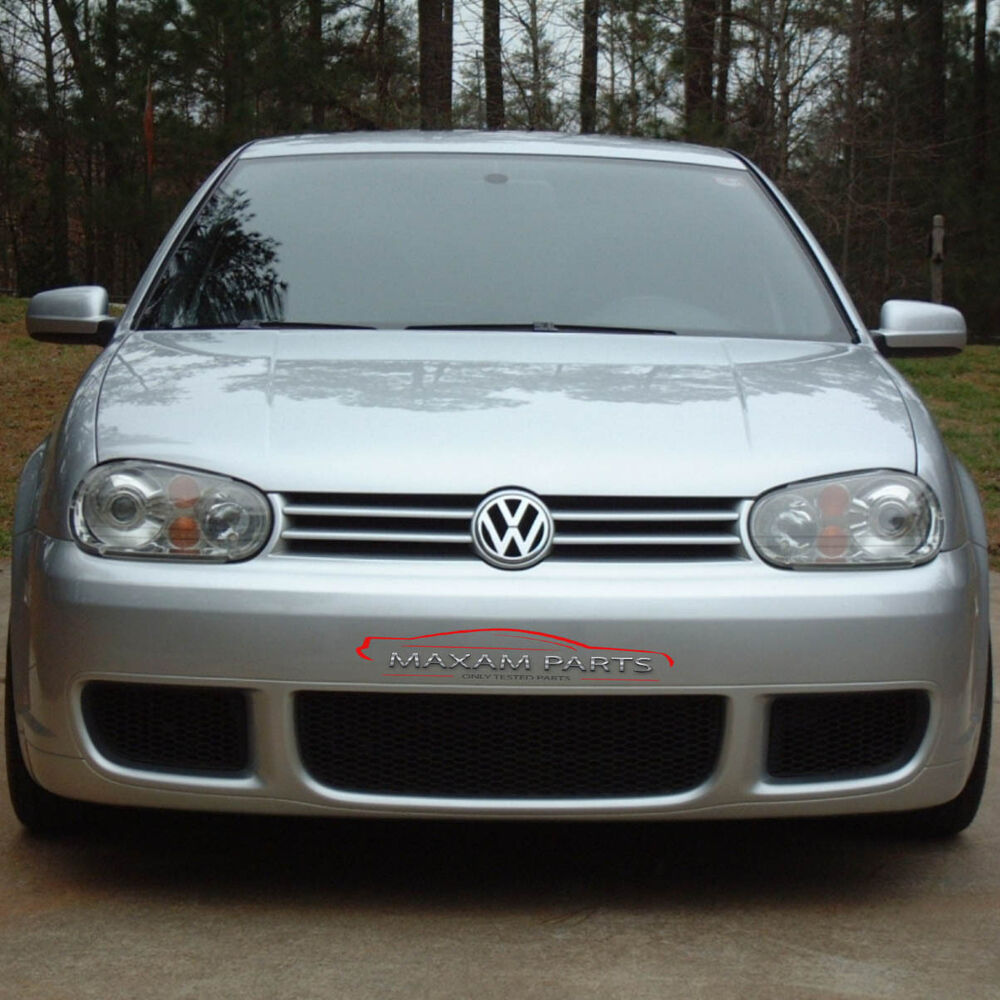 vw golf mk4 4 iv front bumper r32 look abs new ebay. Black Bedroom Furniture Sets. Home Design Ideas