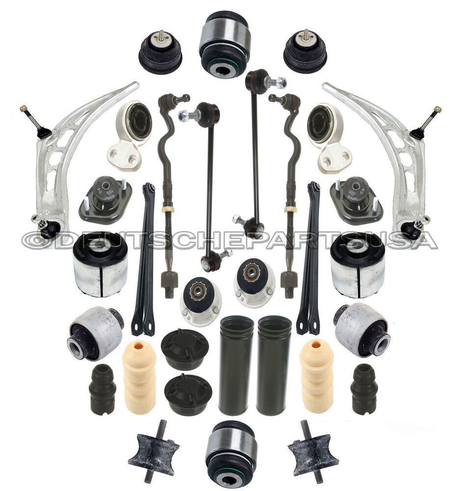 8 Piece Suspension Control Arm Tie Rod Kit Front For 92 96: FRONT REAR Control Arm Ball Joint Engine Strut Shock Mount