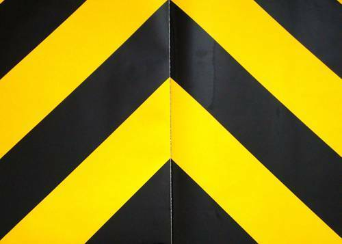 One Pair Of Chevron Black Amp Yellow Reflective Tape Self