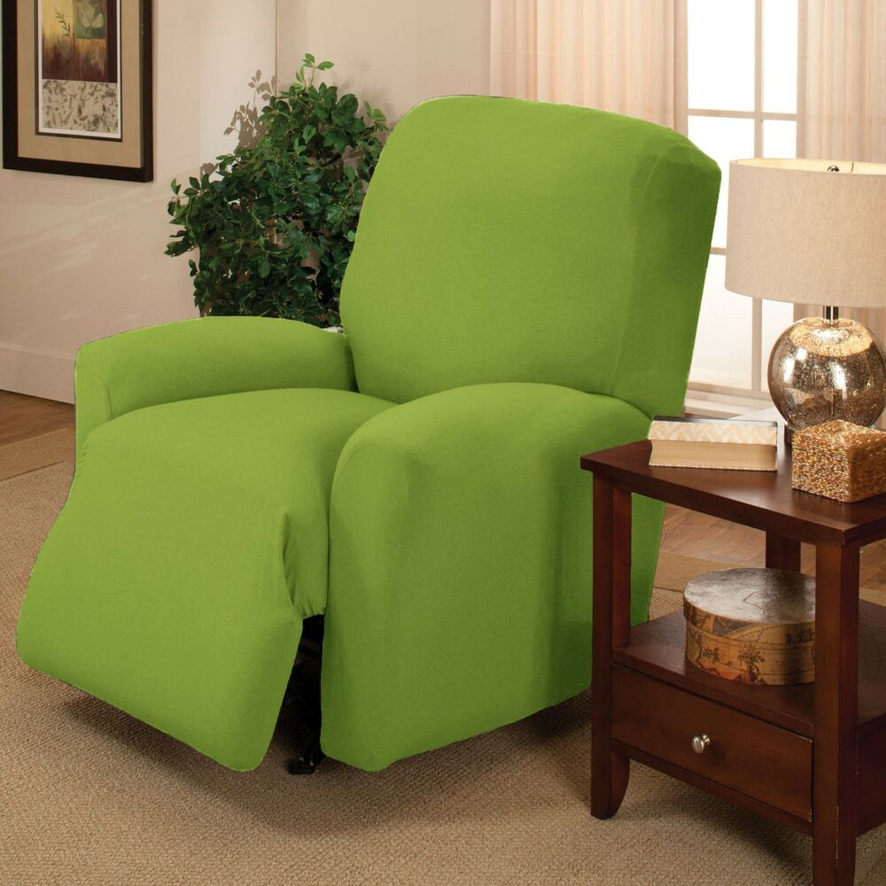 Lime Jersey Recliner Stretch Slipcover Furniture Couch