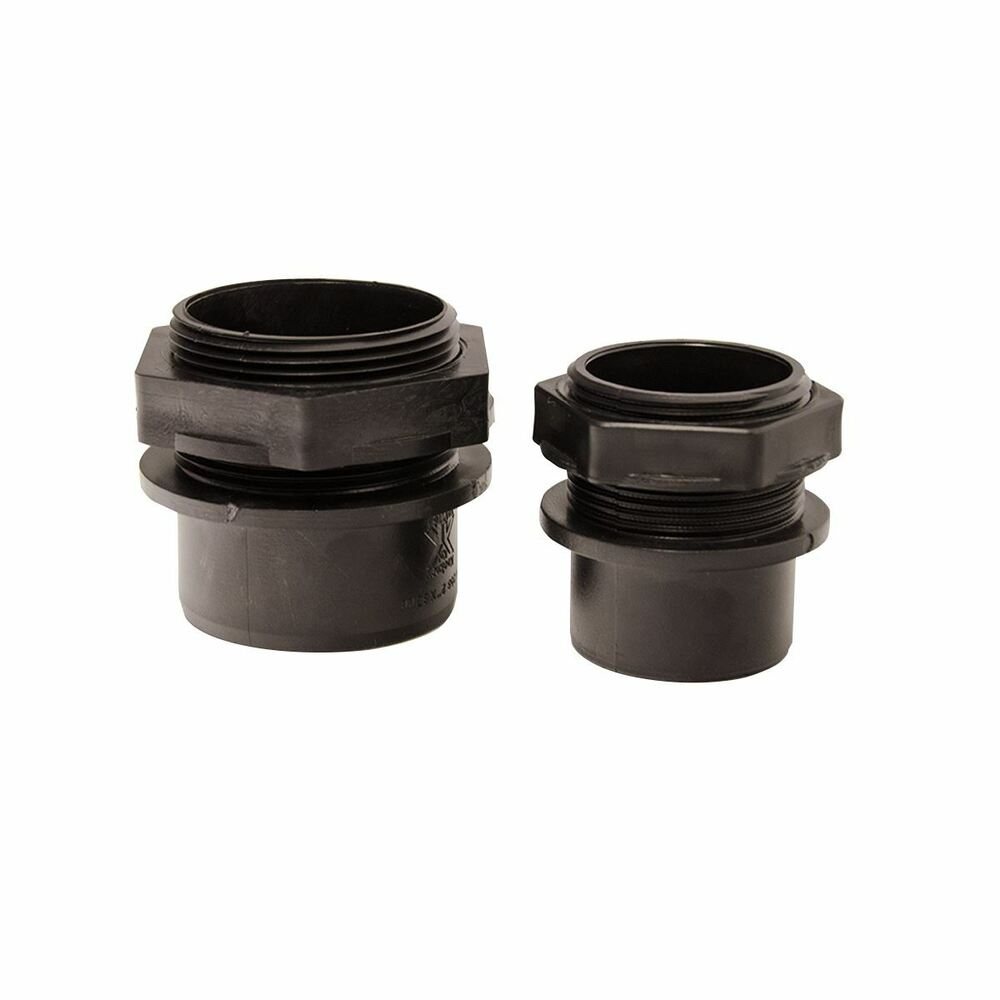 In threaded tank connector fittings fish pond