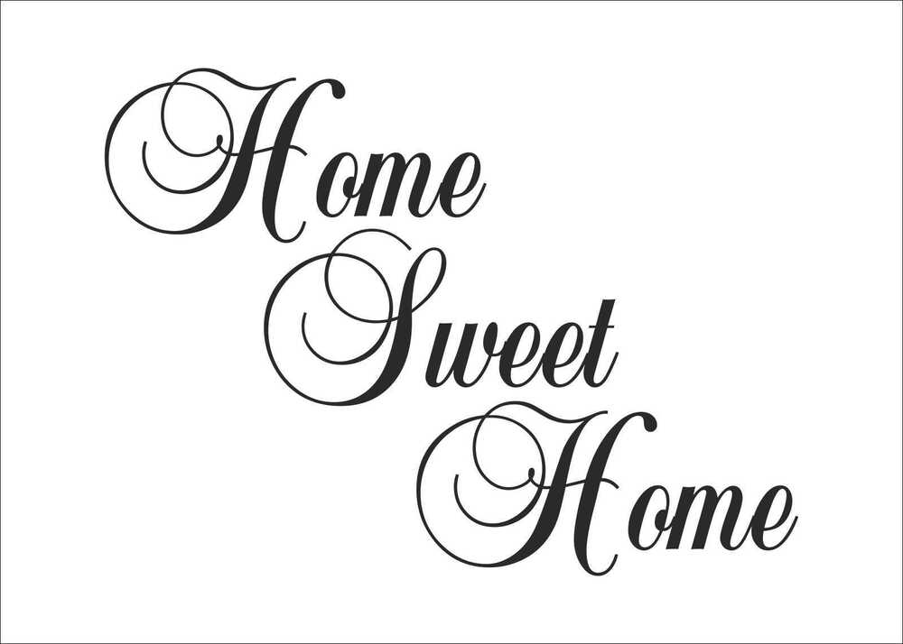 Home sweet home quotes decal sticker vinyl wall art home Home sweet home wall decor