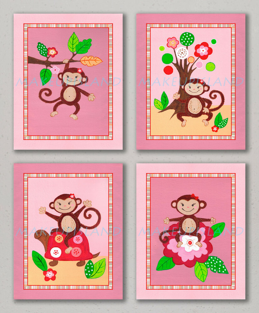 ... Baby Girl Pink Nursery Bedding Art Wall Decor Turtle Flowers | eBay Baby Shower Sea Turtle Cartoon