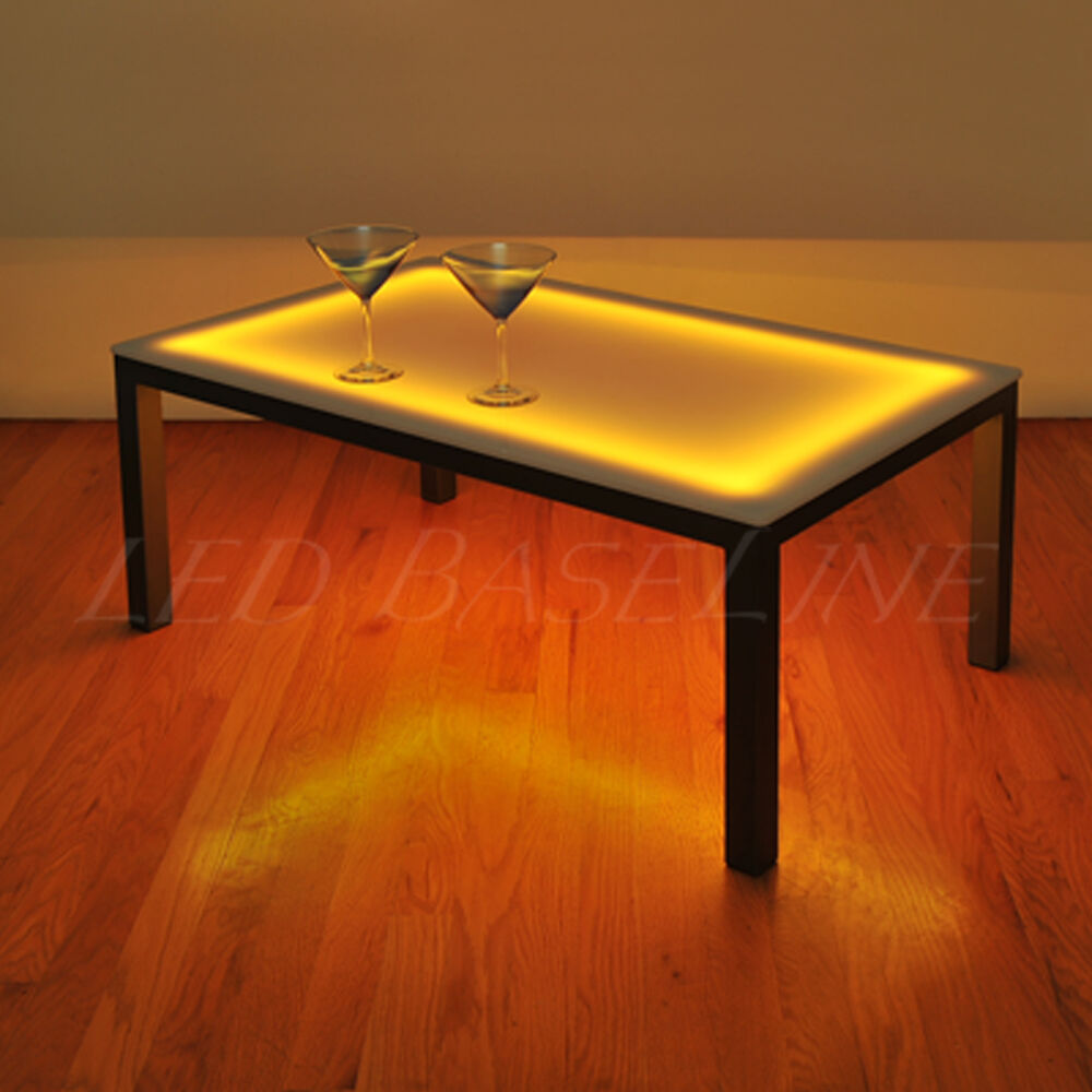 19 Lighted Bar Coffee Table Modern Color Changing Ebay