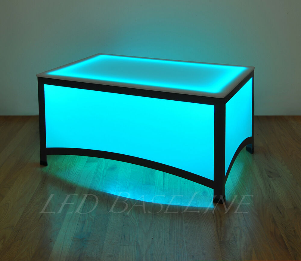 "Colorful Modern Coffee Table: 17.5"" LED ARCHES COFFEE TABLE BAR MODERN COLOR CHANGING"