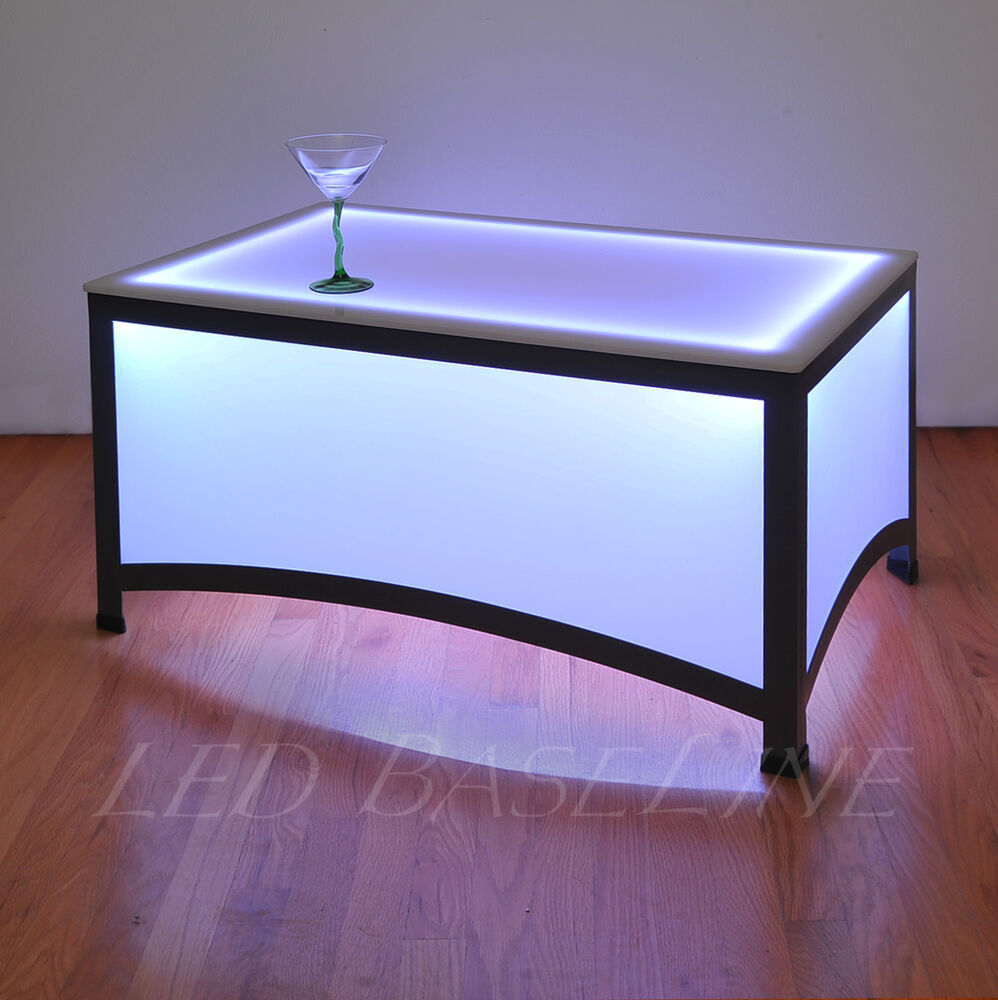 "Colorful Modern Coffee Table: 21"" LED ARCHES COFFEE TABLE BAR MODERN COLOR CHANGING"