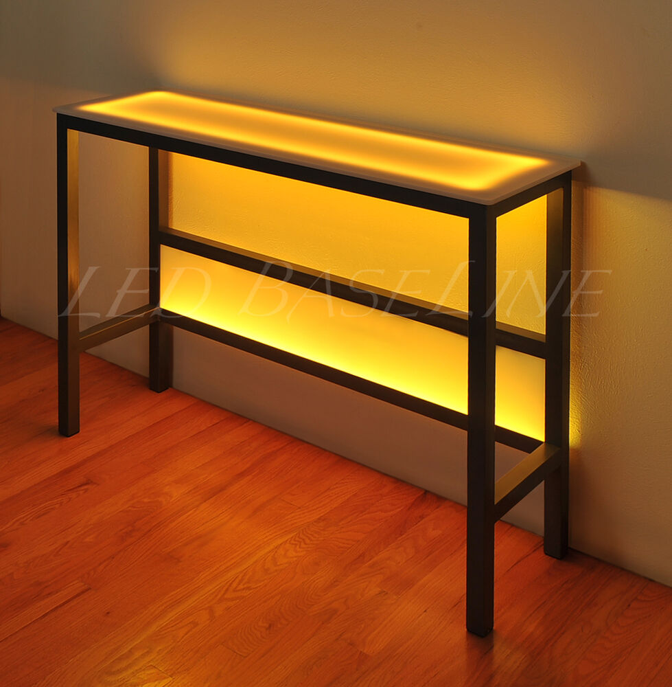 16 led wall table modern bar changing color ebay. Black Bedroom Furniture Sets. Home Design Ideas