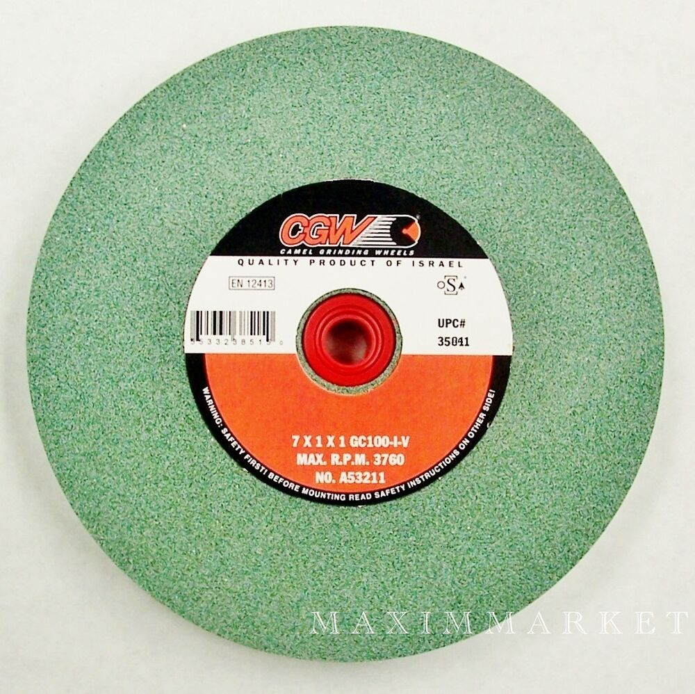 7 Quot X1 Quot X1 Quot Green Silicon Carbide Grinding Wheel For Bench Or