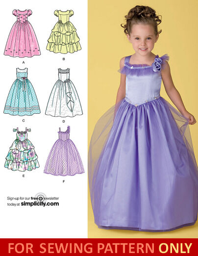Sewing Pattern Make Fancy Flower Girl Dress Size Child 3