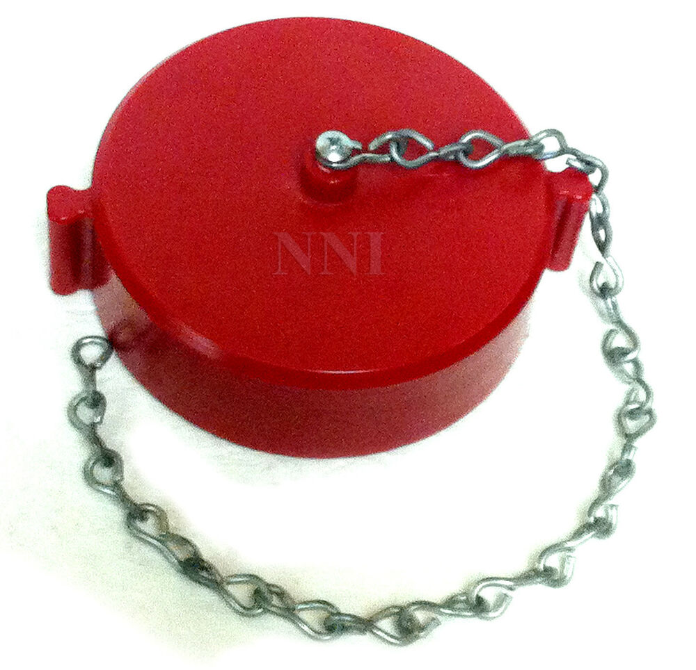 Quot nst fire hose or hydrant cap and chain red