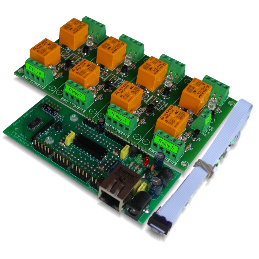 Internet  Ethernet Eight Channel Relay Board  Web Tcp  Ip