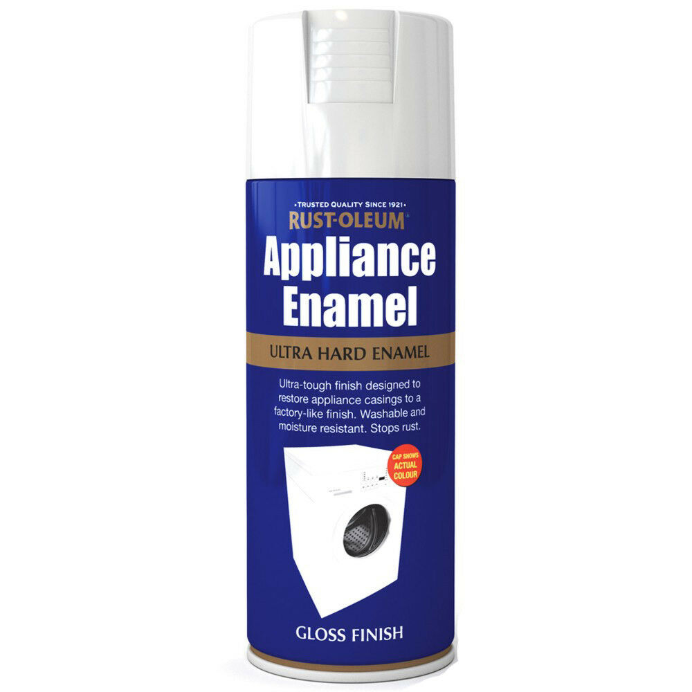 rust oleum appliance enamel white gloss spray paint 400ml ebay. Black Bedroom Furniture Sets. Home Design Ideas