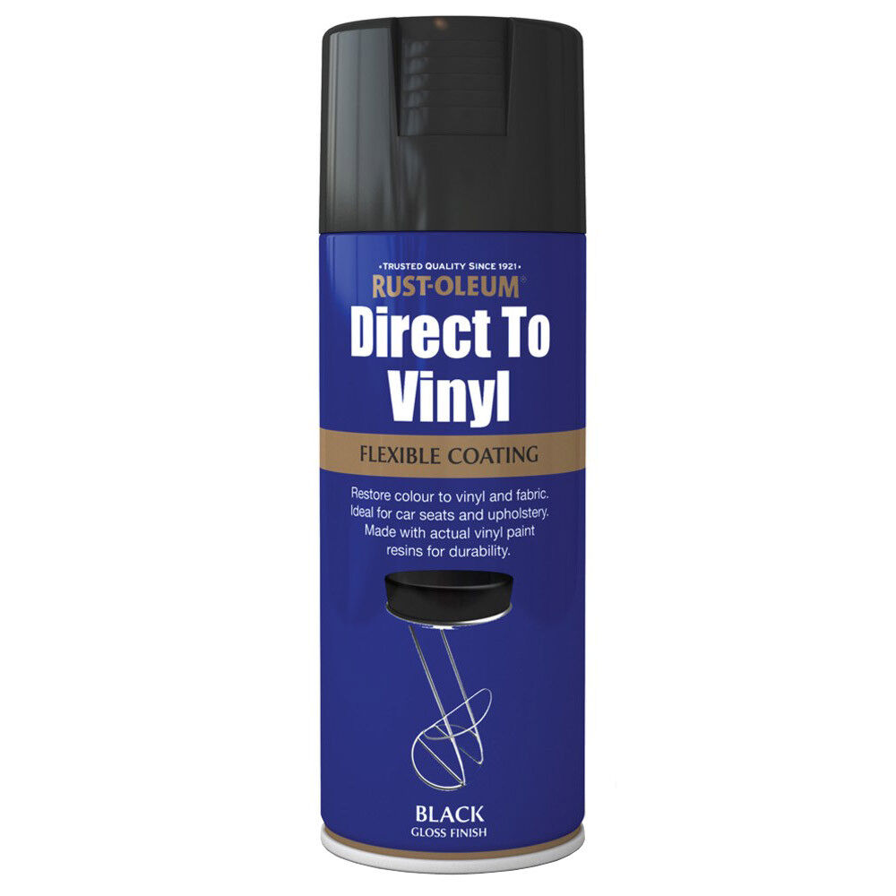 rust oleum direct to vinyl black gloss spray paint 400ml. Black Bedroom Furniture Sets. Home Design Ideas