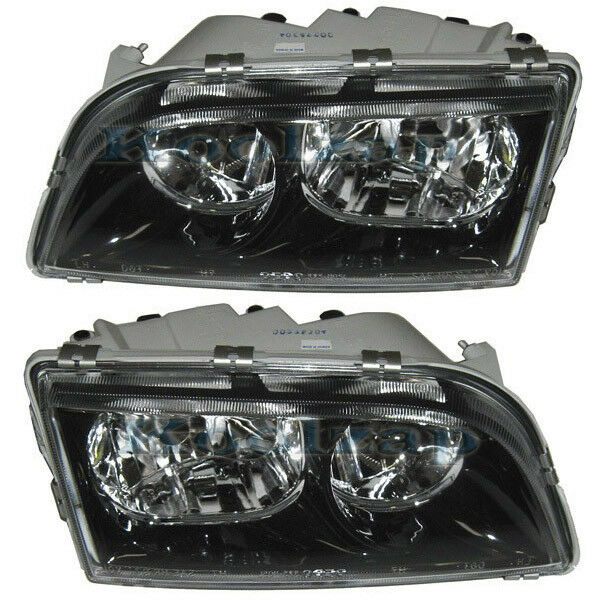 Volvo S40 Headlight Headlamp Black Trim Head Light Lamp Left Right Side Set PAIR | eBay