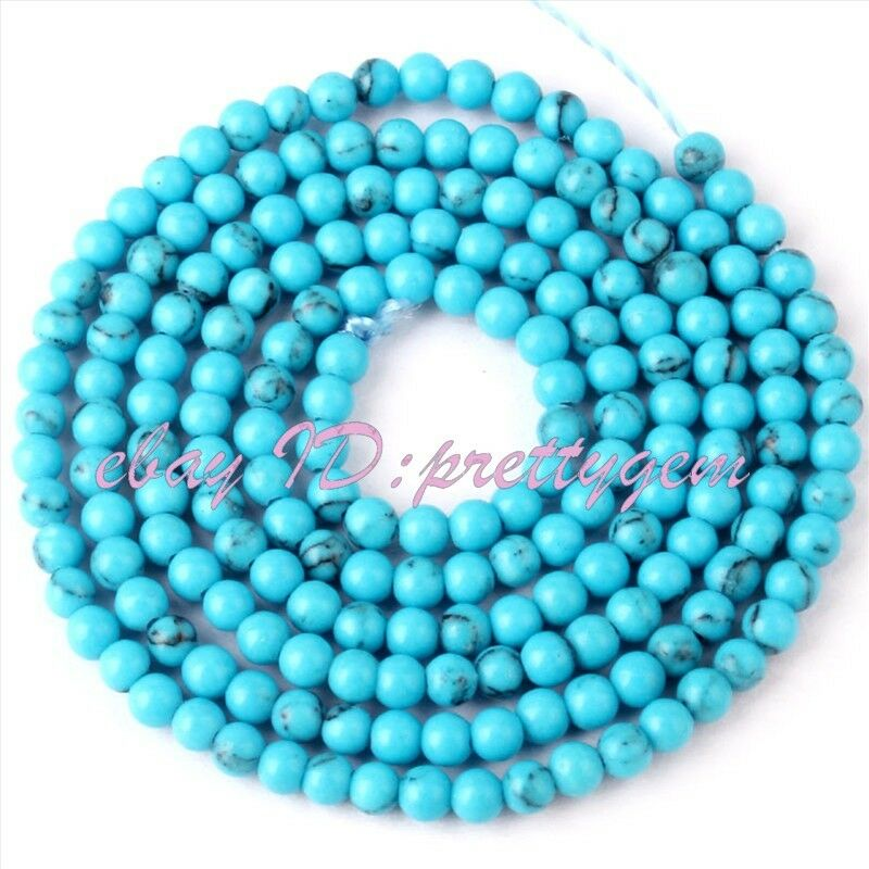 2mm tiny round blue turquoise spacer gemstone beads strand for Birthstone beads for jewelry making