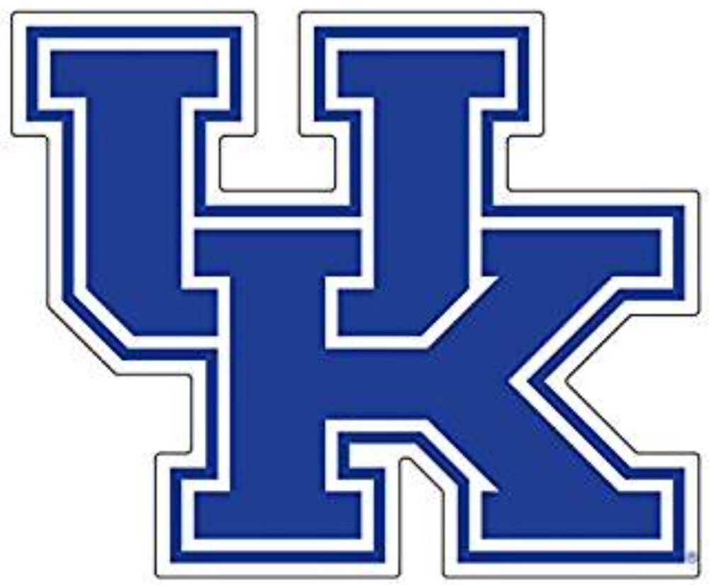Uk Univeristy Of Kentucky Wildcats Large Logo Decals Set
