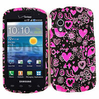 I Love You Pink & Black Hard Cover Faceplate Case For Samsung Stratosphere i405
