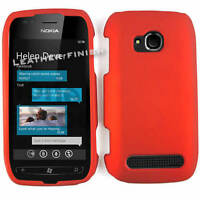 Red Rubberized Phone Cover For Nokia Lumia 710 Hard Case Faceplate Protector