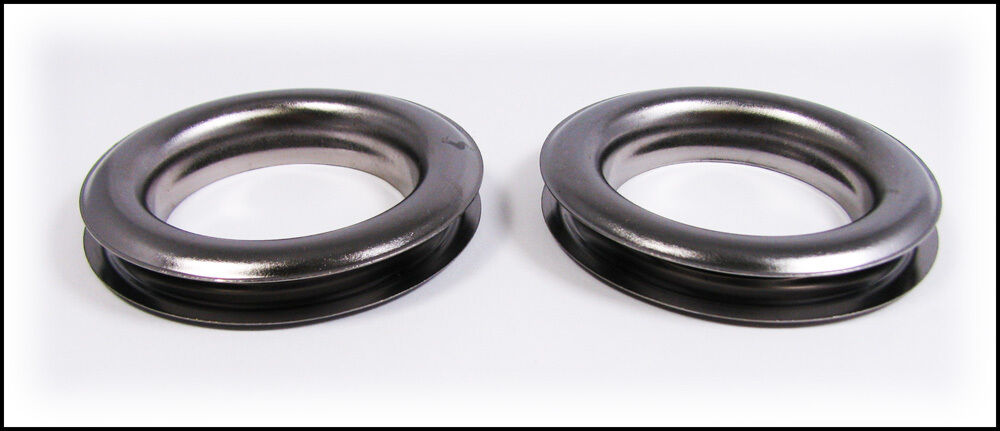 2pc Large 12 1 5 Hole Gun Metal Curtain Grommets With Washers 32 59 01 Ebay
