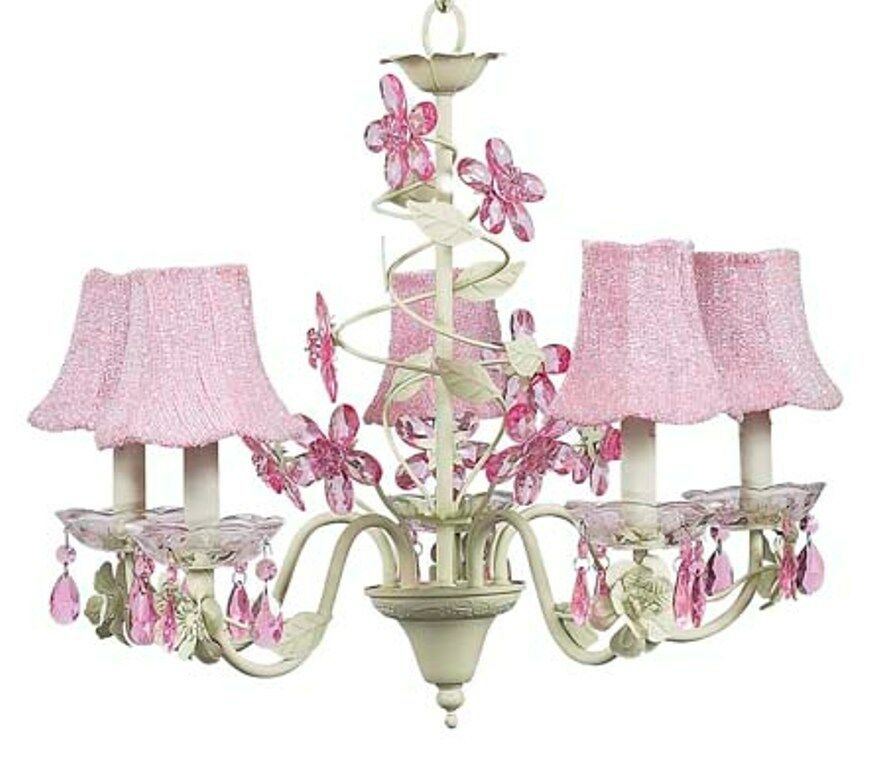 kids room crystal flower chandelier light fixture nursery