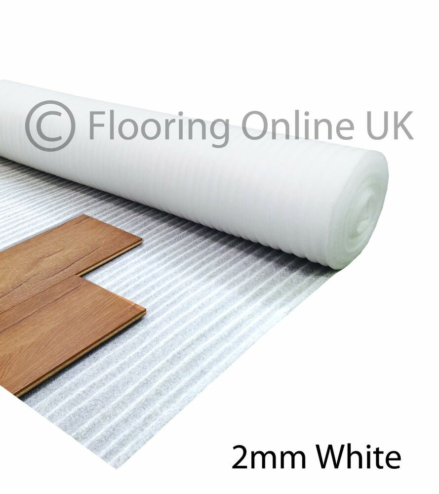 90m2 2mm acoustic comfort white underlay wood for Cheap laminate wood flooring
