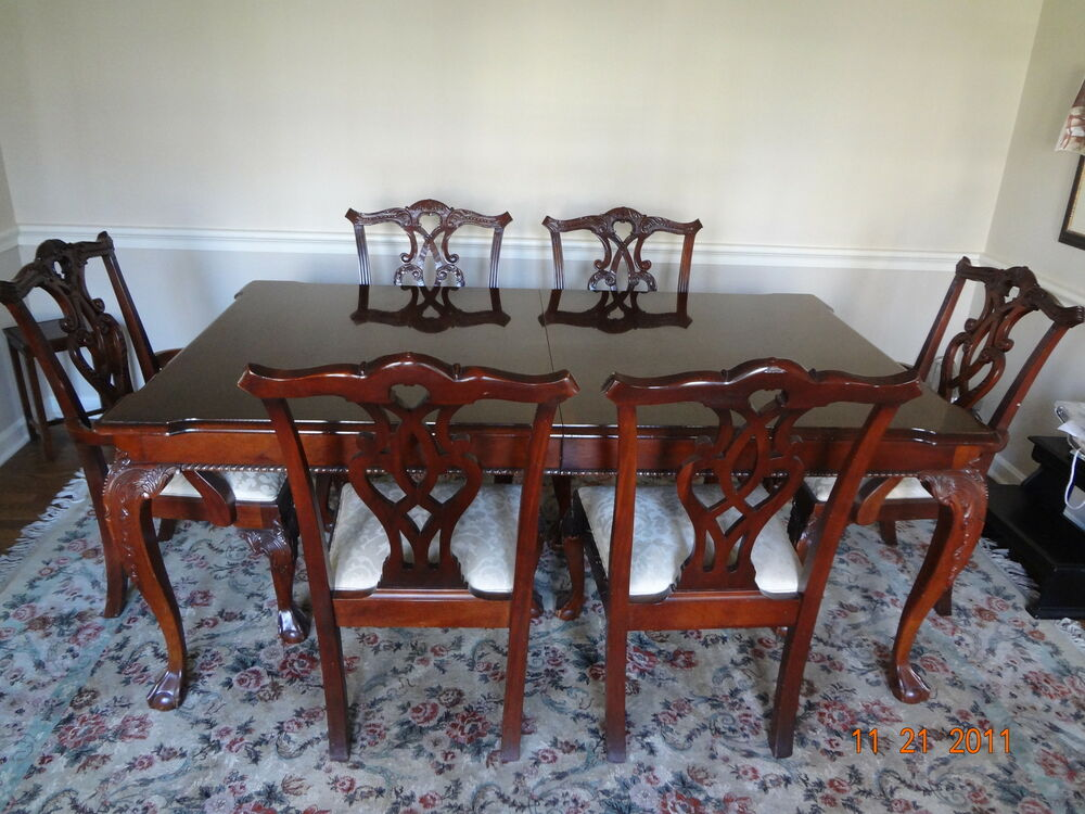 Stanley Stoneleigh Collection Mahogany Table And Chairs Ebay