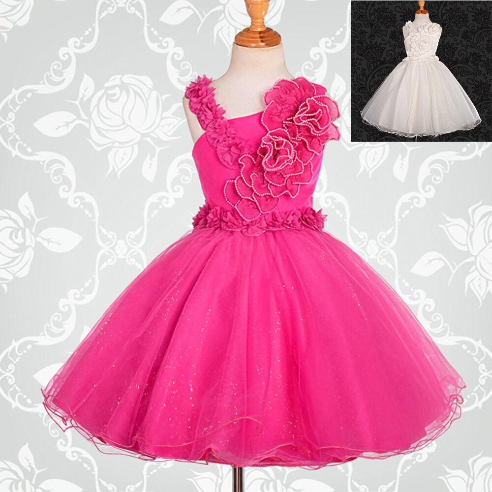 Pearls Flower Girl Dresses Wedding Bridesmaid Party Age 2-9 Years ...