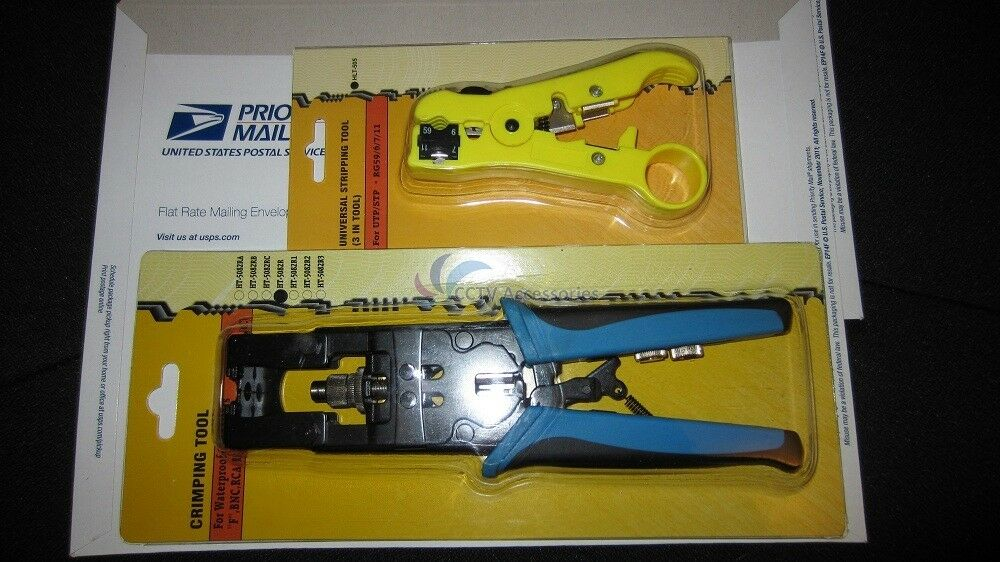coaxial compression tool w coax stripper