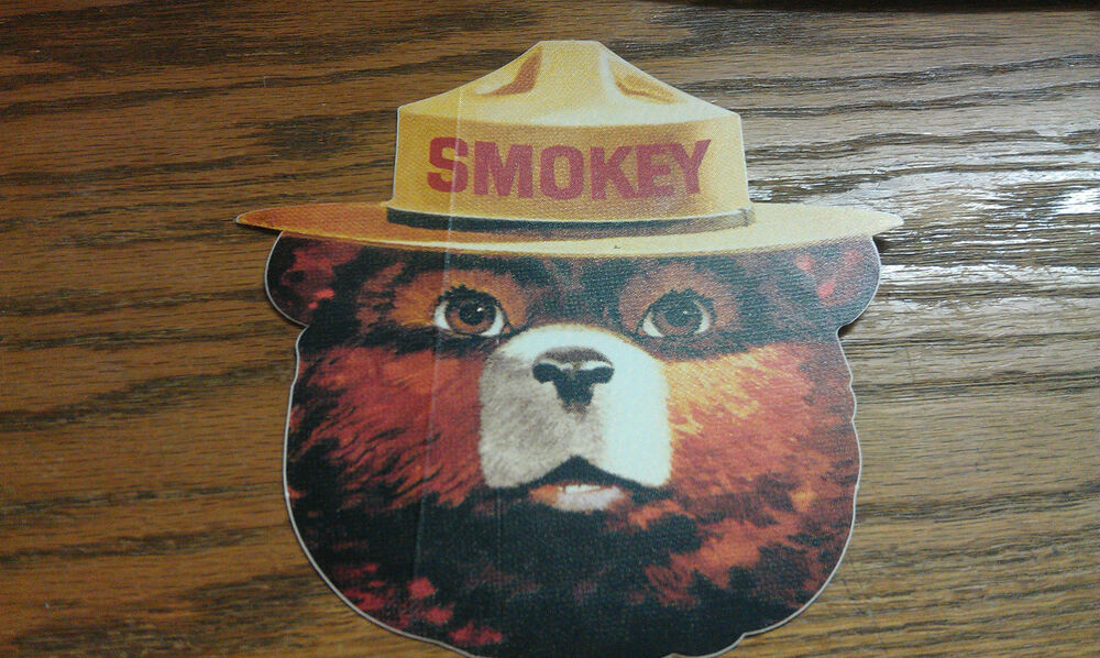 6 Door Truck >> SMOKEY THE BEAR, LARGE, GOOD FOR TRUCK DOOR, 6"
