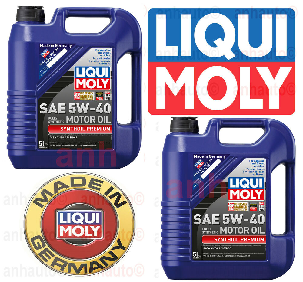 10 liters of lubro moly synthoil full synthetic motor oil for 5 w 40 motor oil