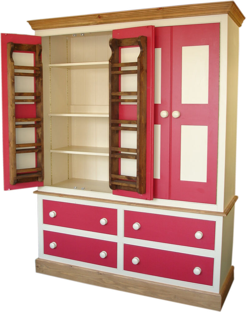 Wooden Pantry Cupboards ~ Larder or pantry cupboard free standing kitchen solid