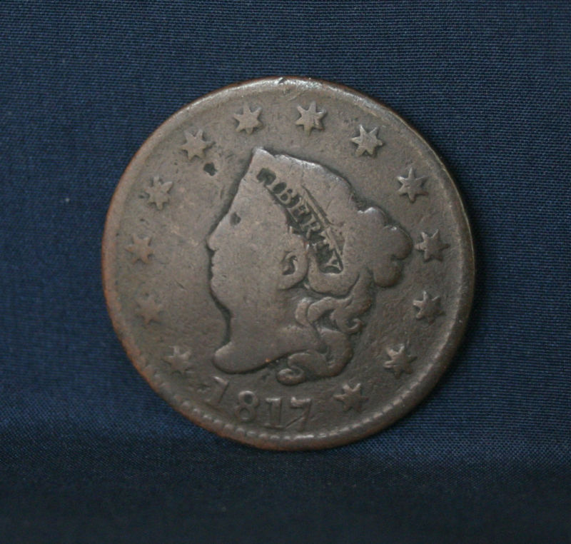 1817 Large Cent 2nd Year Coronet Head Rare Early Penny Ebay